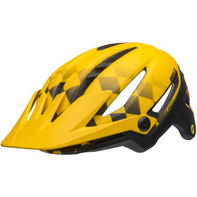 Bell Sixer MIPS Kypärä, finish line matte yellow/black